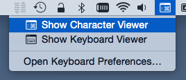 Show Character Viewer from input menu
