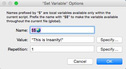 Selected Emoji variable